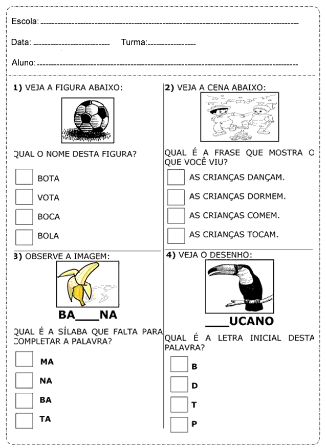 Atividades De Português 1º 2º 3º 4º E 5º Ano Do Ensino Fundamental