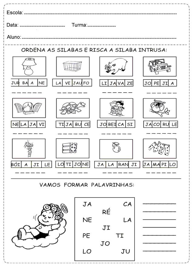 Atividades de Português 1 ano para imprimir - Ensino Fundamental.