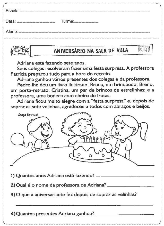 Atividades De Portugues 3 Ano Do Ensino Fundamental Para Imprimir