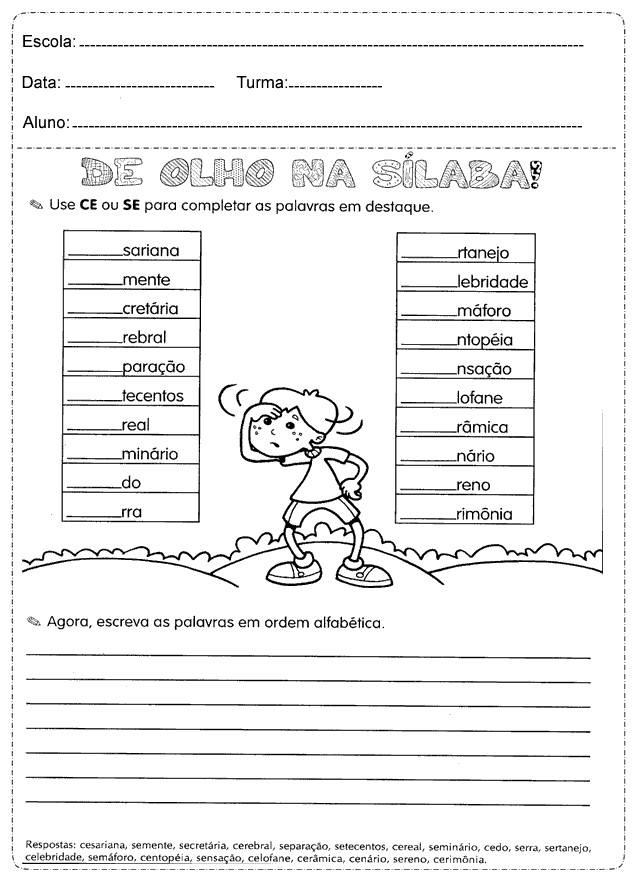 Atividades De Portugues 4º Ano Do Ensino Fundamental Para Imprimir