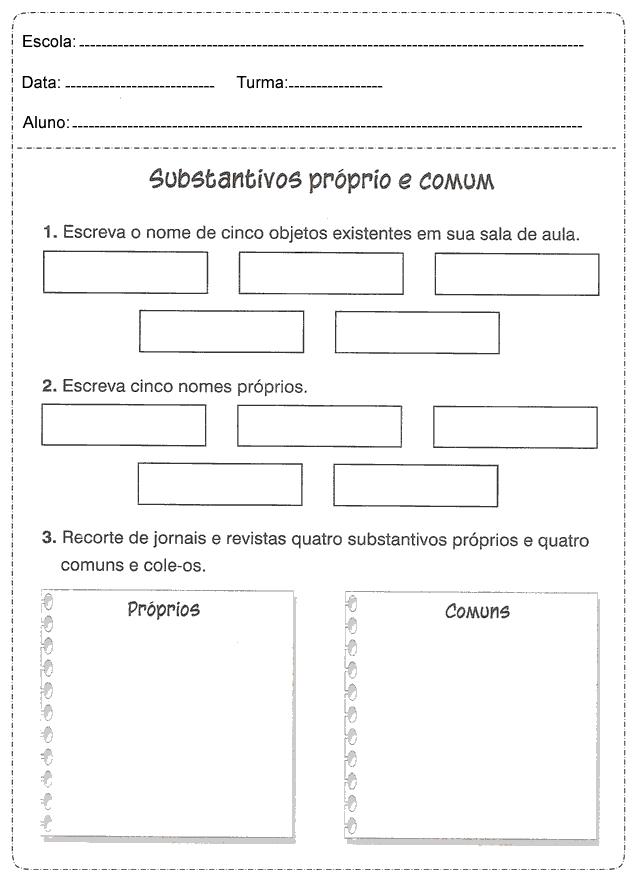 Atividades de Português 3 ano do Ensino Fundamental