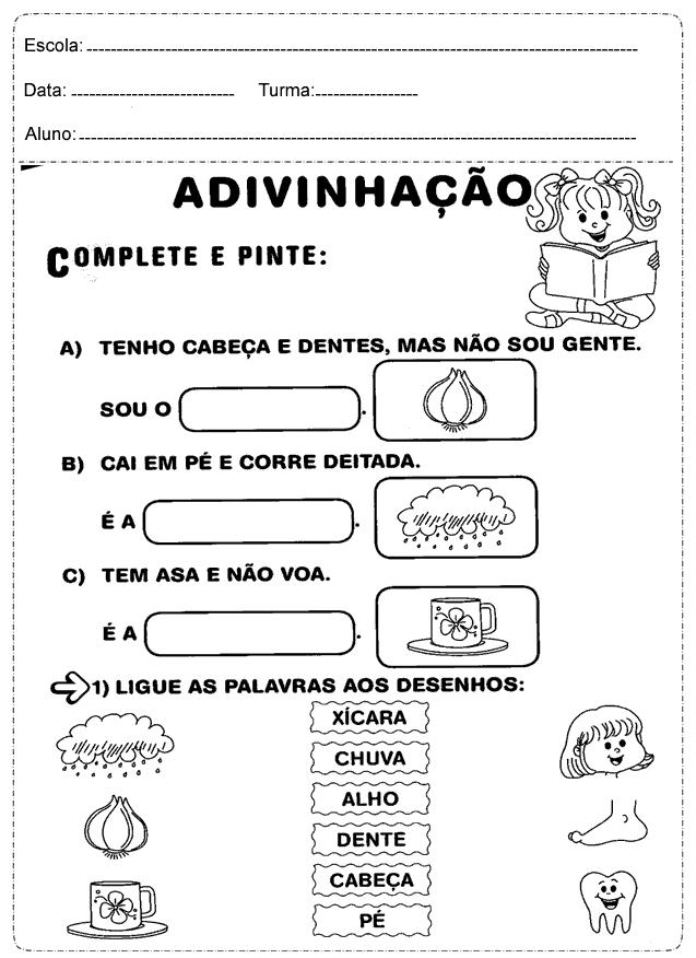 Excepcional Atividades de português 2 ano do Ensino Fundamental - Para Imprimir VH82