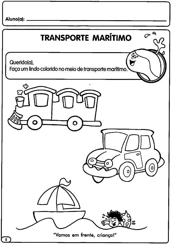Meio De Transporte Maritimo Atividades Semana Do Transito Para