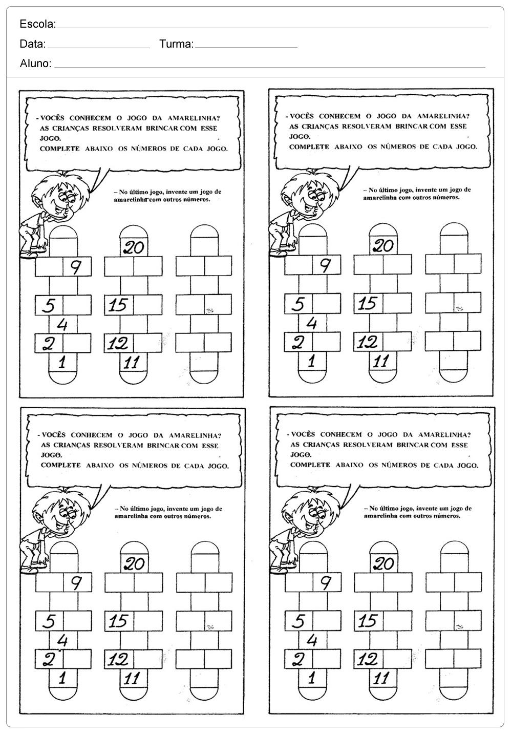 Atividades de Matemática 2 ano do Ensino Fundamental - Para Imprimir.