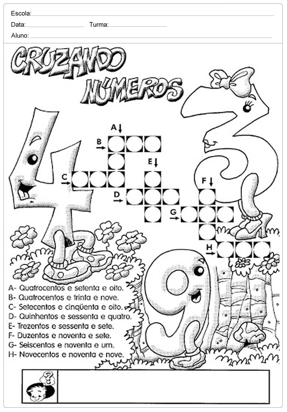 Atividades de Matemática 3 ano do Ensino Fundamental – Para Imprimir.