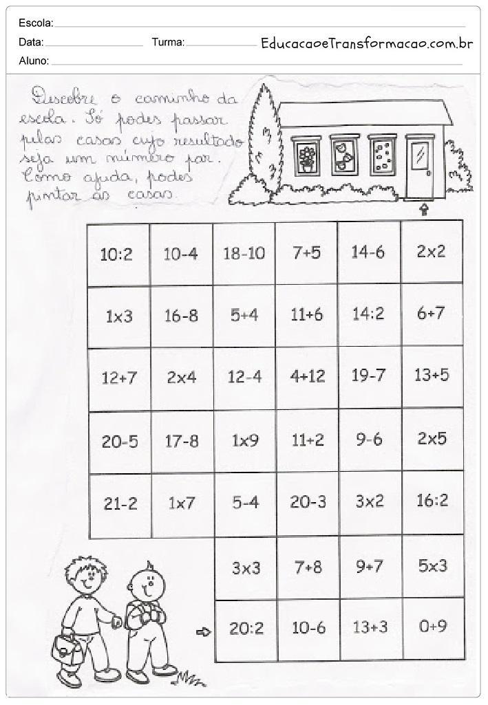 Top Atividades de Matemática 3 ano do Ensino Fundamental – Para Imprimir. LA48