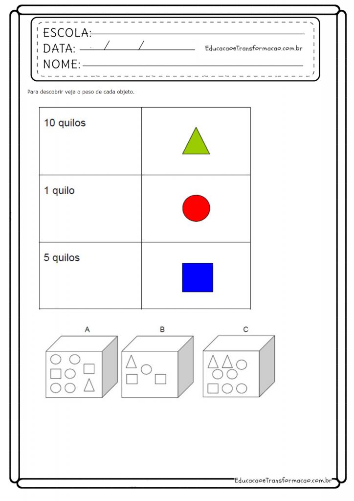 Atividades De Matematica 3 Ano Do Ensino Fundamental Para Imprimir