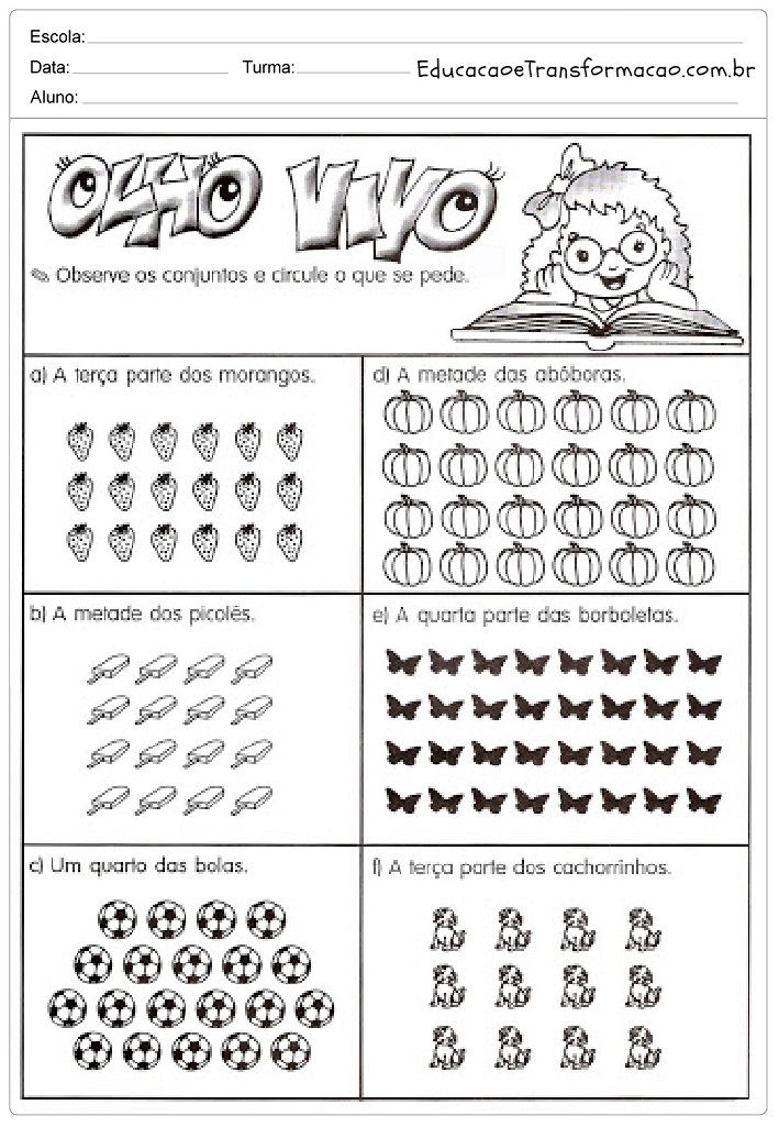 Well-known Atividades de Matemática 3 ano do Ensino Fundamental – Para Imprimir. TH48