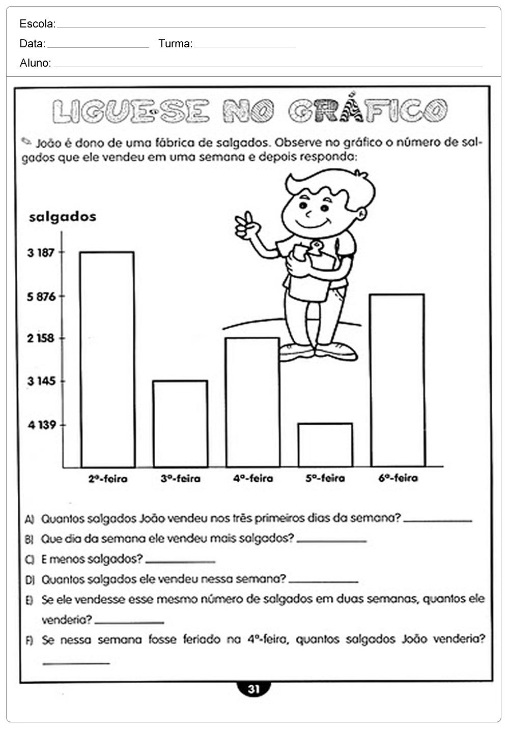 Well-known Atividades de Matemática 4 ano do Ensino Fundamental – Para Imprimir. IR38