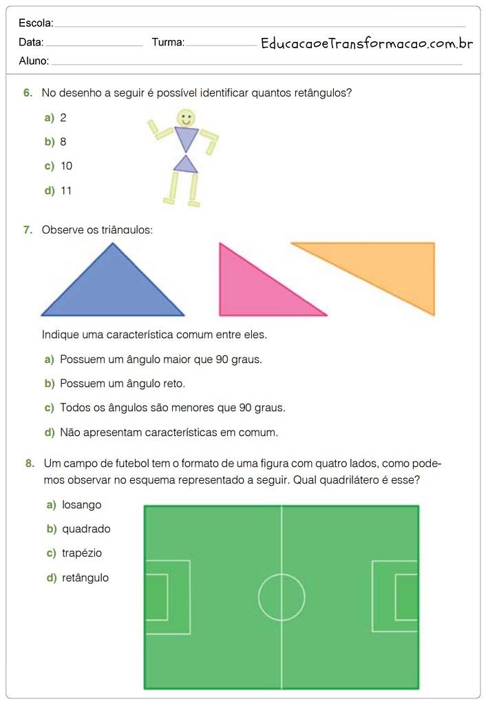 Atividades de Matemática 5 ano do Ensino Fundamental – Para Imprimir
