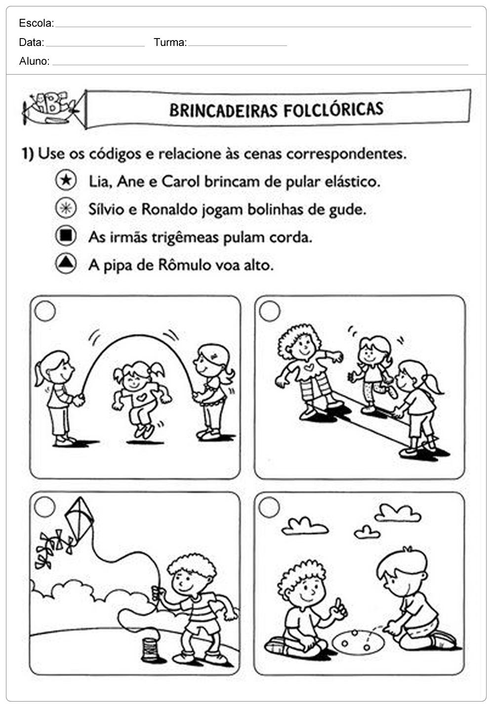 Atividades de português 2 ano do Ensino Fundamental