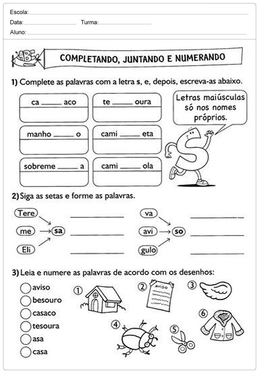 Atividades De Português 2 Ano Do Ensino Fundamental Para Imprimir
