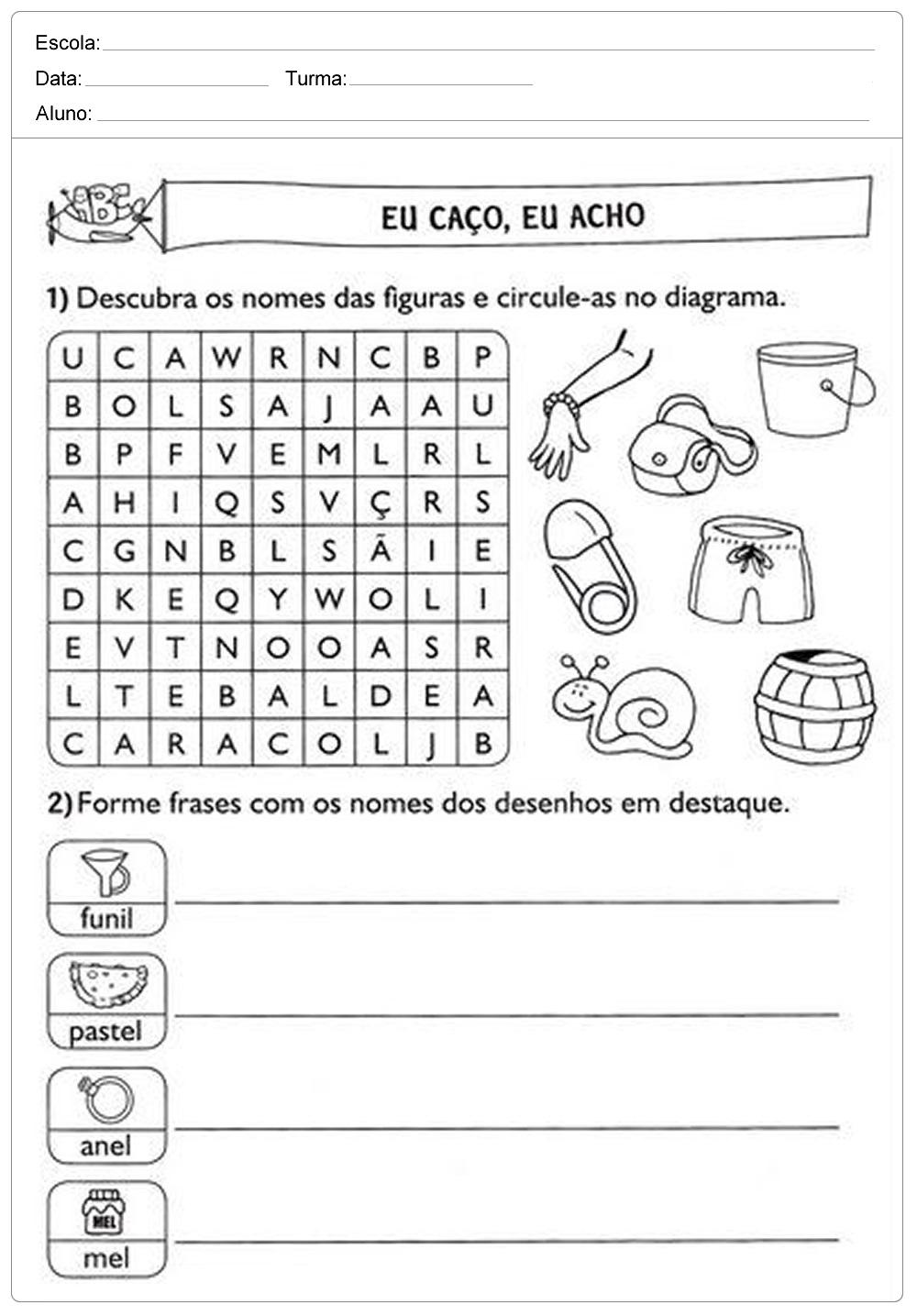 Atividades De Português Para O 2 Ano Ensino Fundamental Imprimir