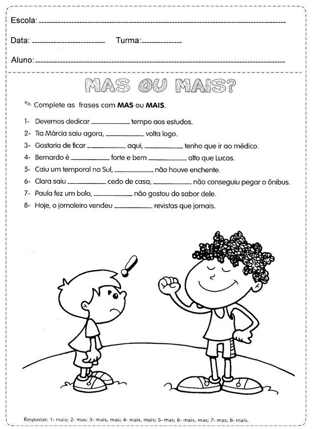 Atividades De Português 4º Ano Do Ensino Fundamental Para Imprimir