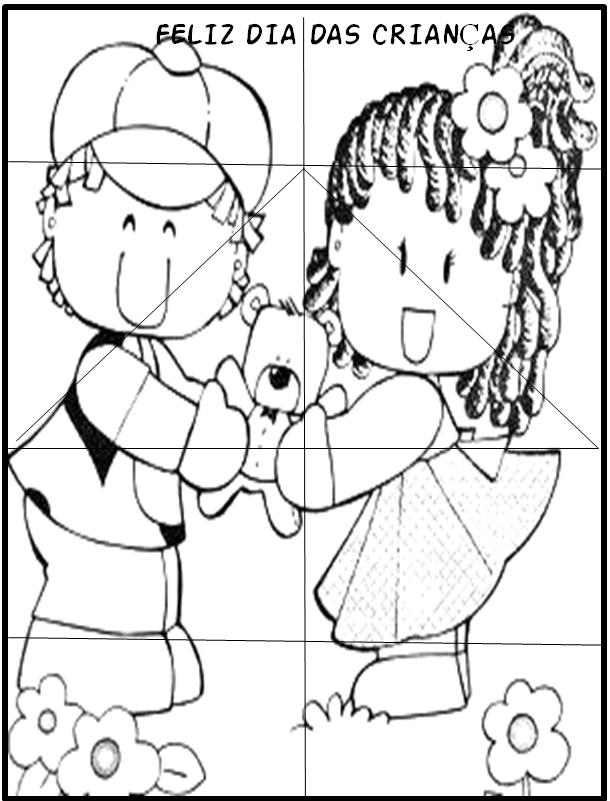 Atividades Dia Das Criancas Quebra Cabecas Com Menino E Menina