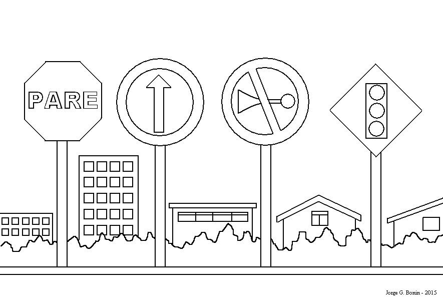 desenhos para colorir semana do trânsito educação e transformação