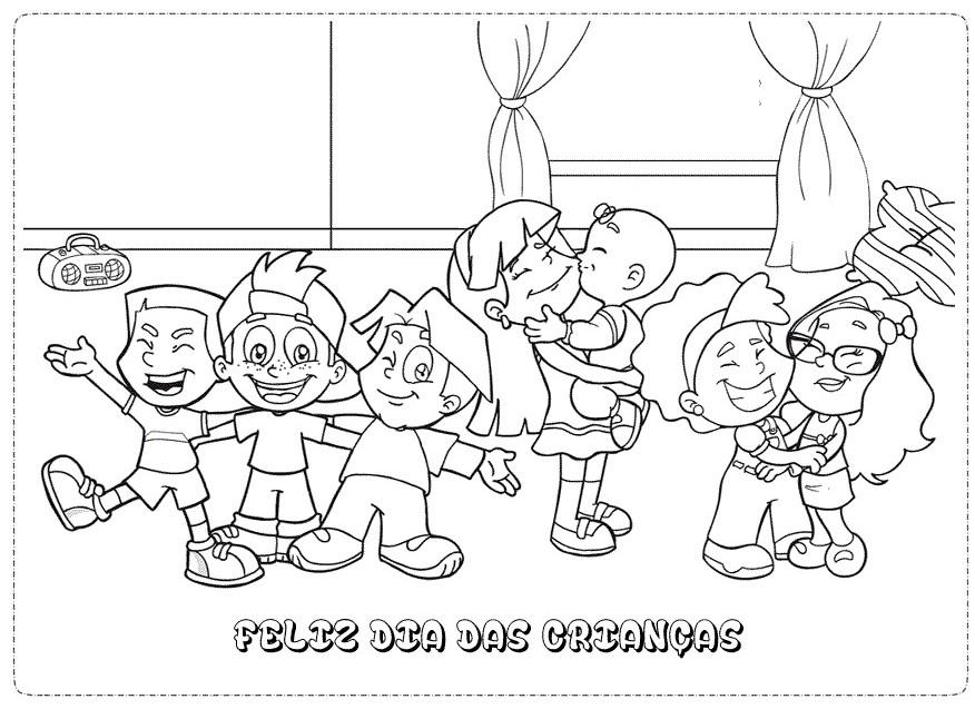 Desenhos Dia das Crianças para imprimir e colorir - Atividades.