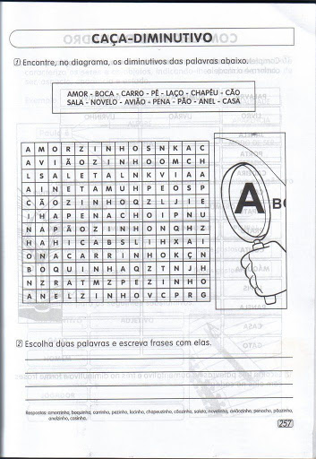 Atividades de Português 4º ano do Ensino Fundamental - Para Imprimir.