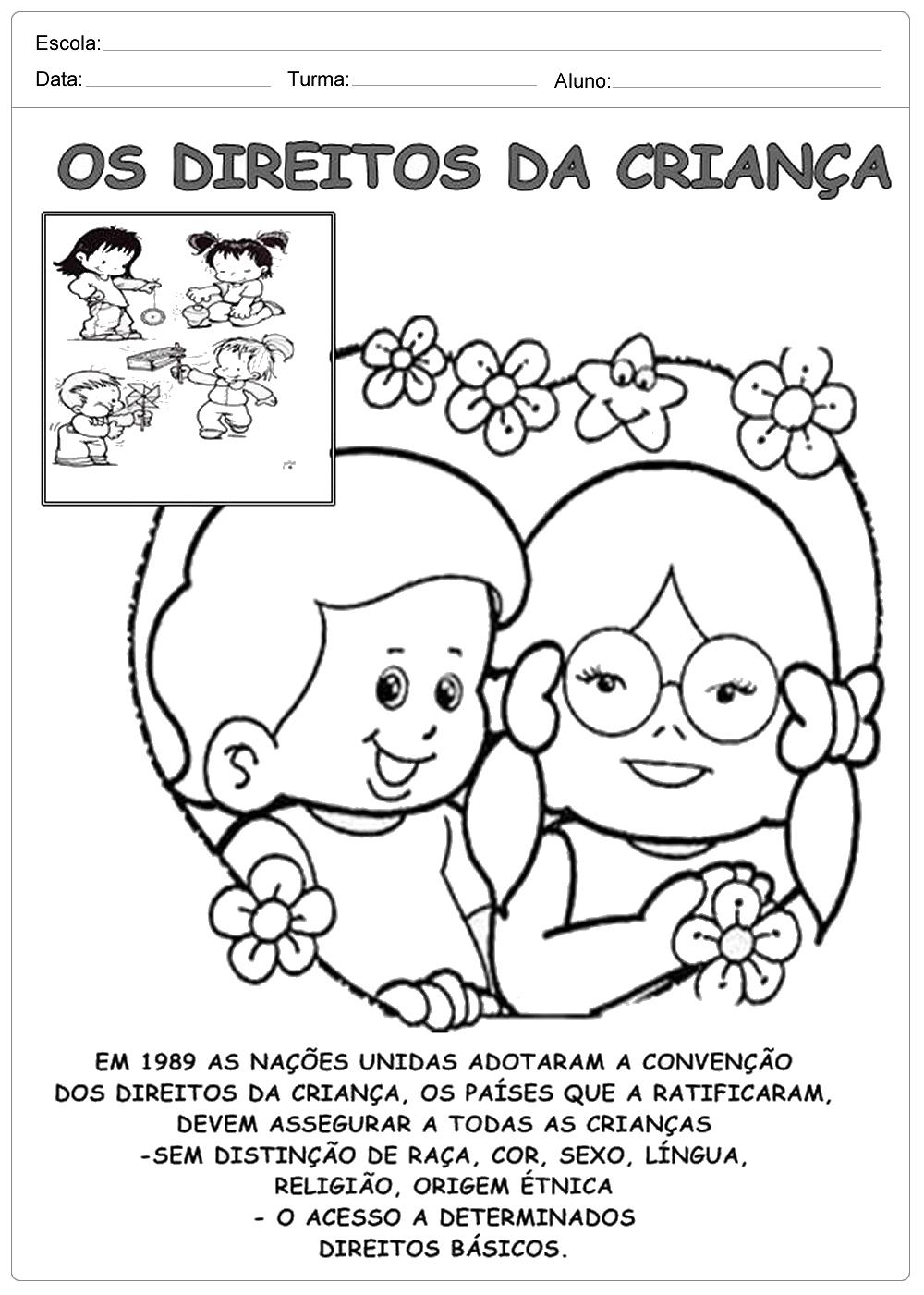 Atividades Direito das Crianças: Texto sobre o Direito das Crianças.