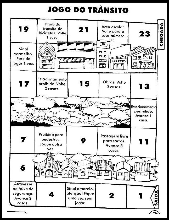 Conhecido Atividades semana do trânsito para imprimir com desenhos para colorir. FU12