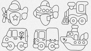 Moldes De Meios De Transporte Moldes De Carro Caminhão E Onibus