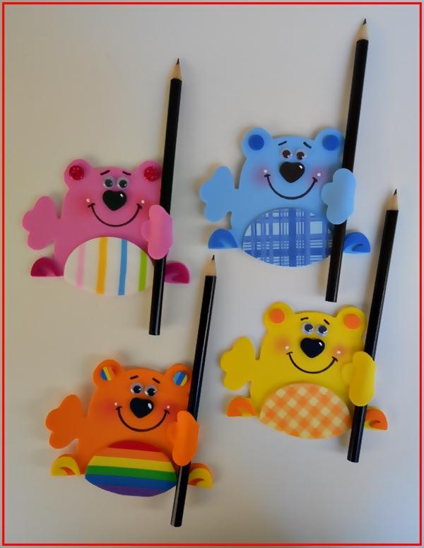 Atividades para projeto dia das crianças: Ponteiras de Lápis.