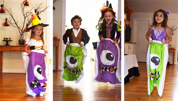 Jogos e Brincadeiras Dia das Bruxas – Halloween: CORRIDA DO SACO