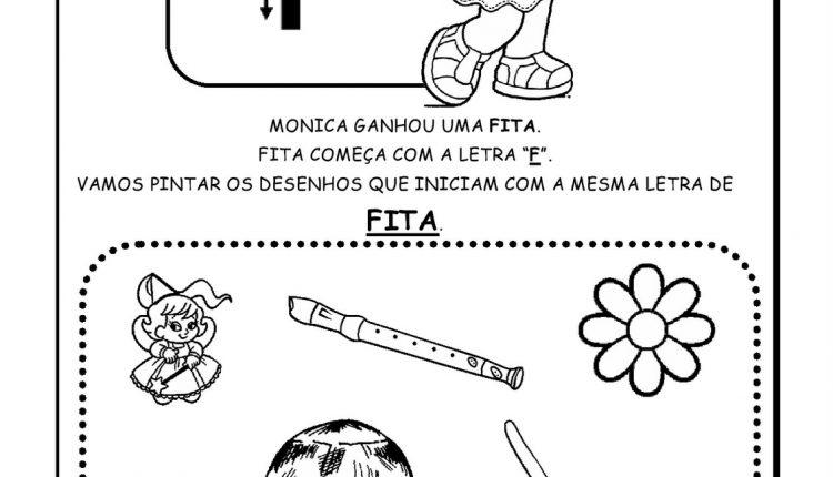 Atividades de Alfabetização para imprimir – Letra F