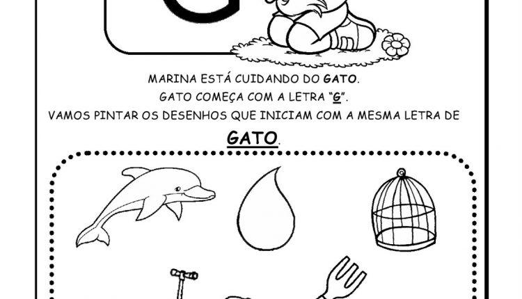 Atividades de Alfabetização para imprimir – Letra G