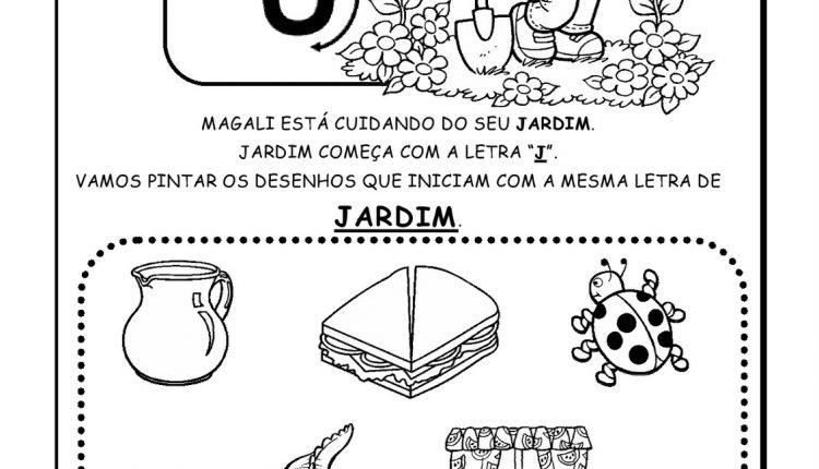 Atividades de Alfabetização para imprimir – Letra J