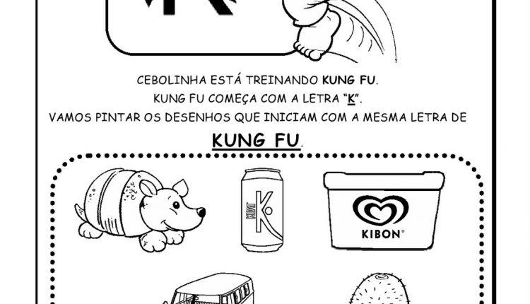 Atividades de Alfabetização para imprimir – Letra K