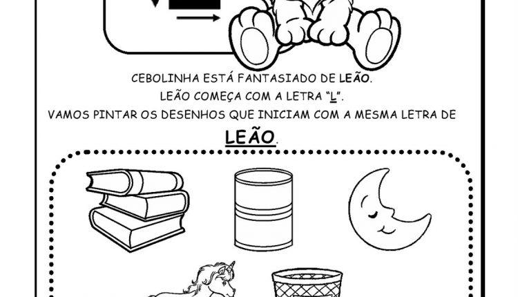 Atividades de Alfabetização para imprimir – Letra L