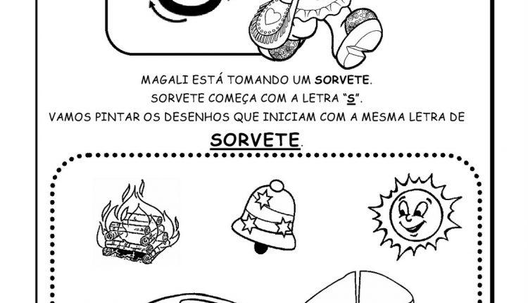 Atividades de Alfabetização para imprimir – Letra S
