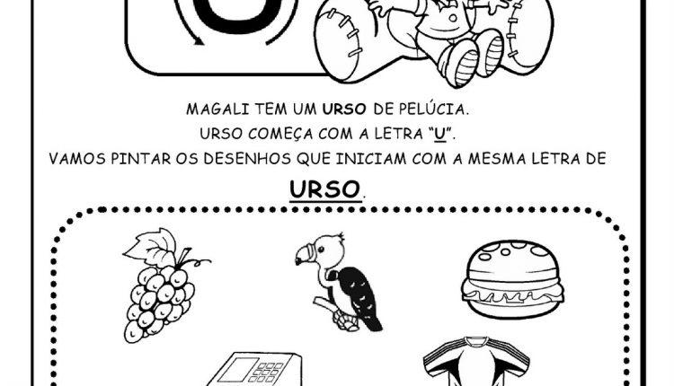 Atividades de Alfabetização para imprimir – Letra U