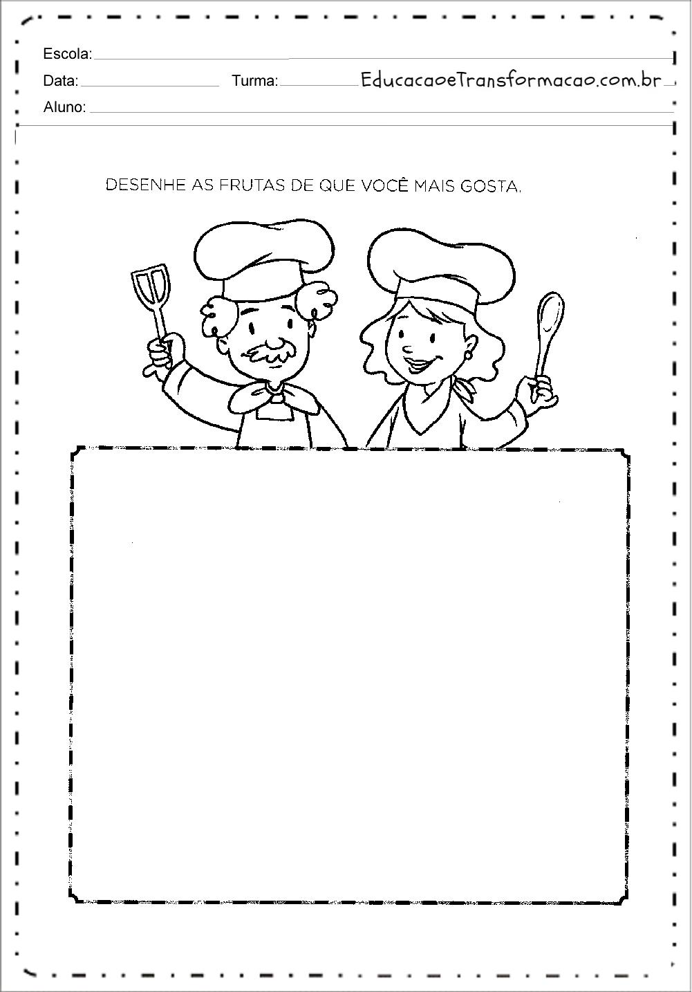Populares Atividades de Alimentação - Para Imprimir - Series Iniciais UC93