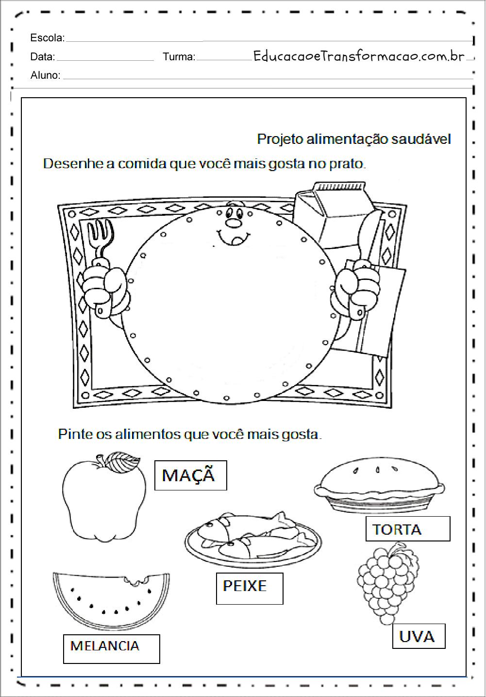 Well-known Atividades de Alimentação - Para Imprimir - Series Iniciais RA13