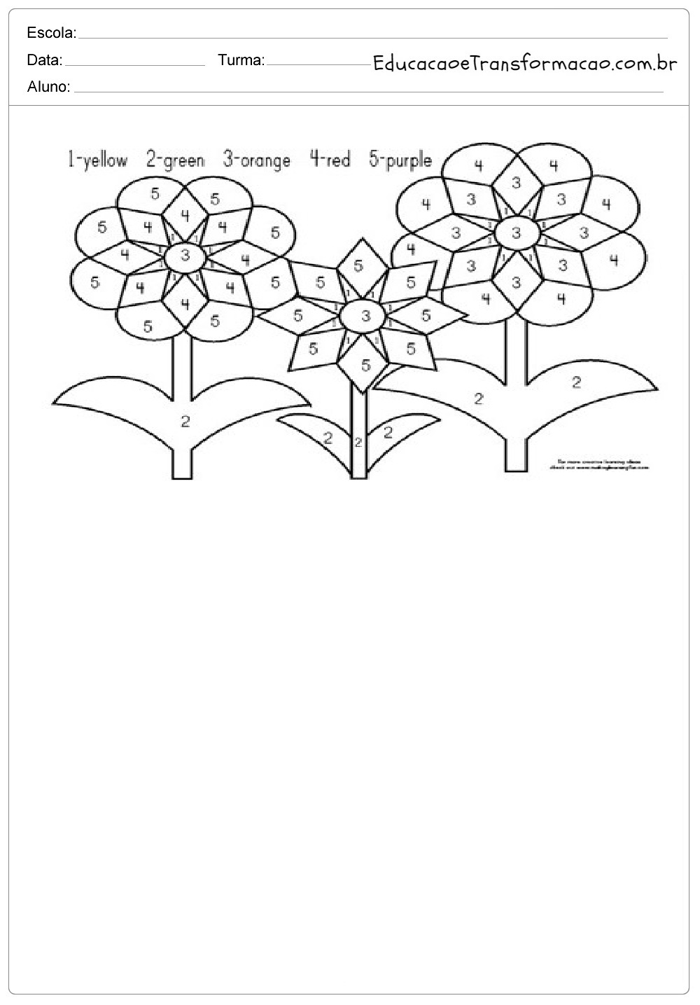 Atividades De Ingles 1 Ano Para Imprimir E Colorir Ensino