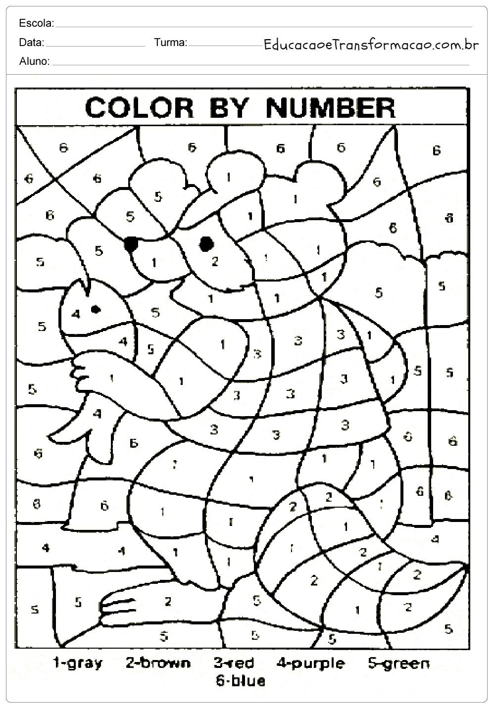 Atividades de Inglês 1 ano - Para Imprimir e Colorir - Ensino Fundamental.