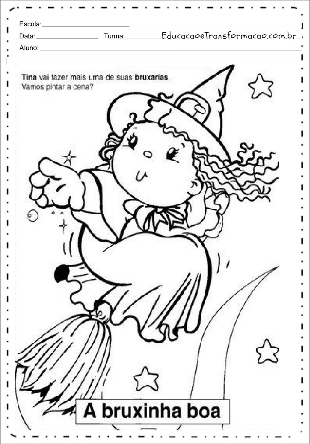 Atividades Dia das Bruxas - Halloween para Imprimir: Series Iniciais.