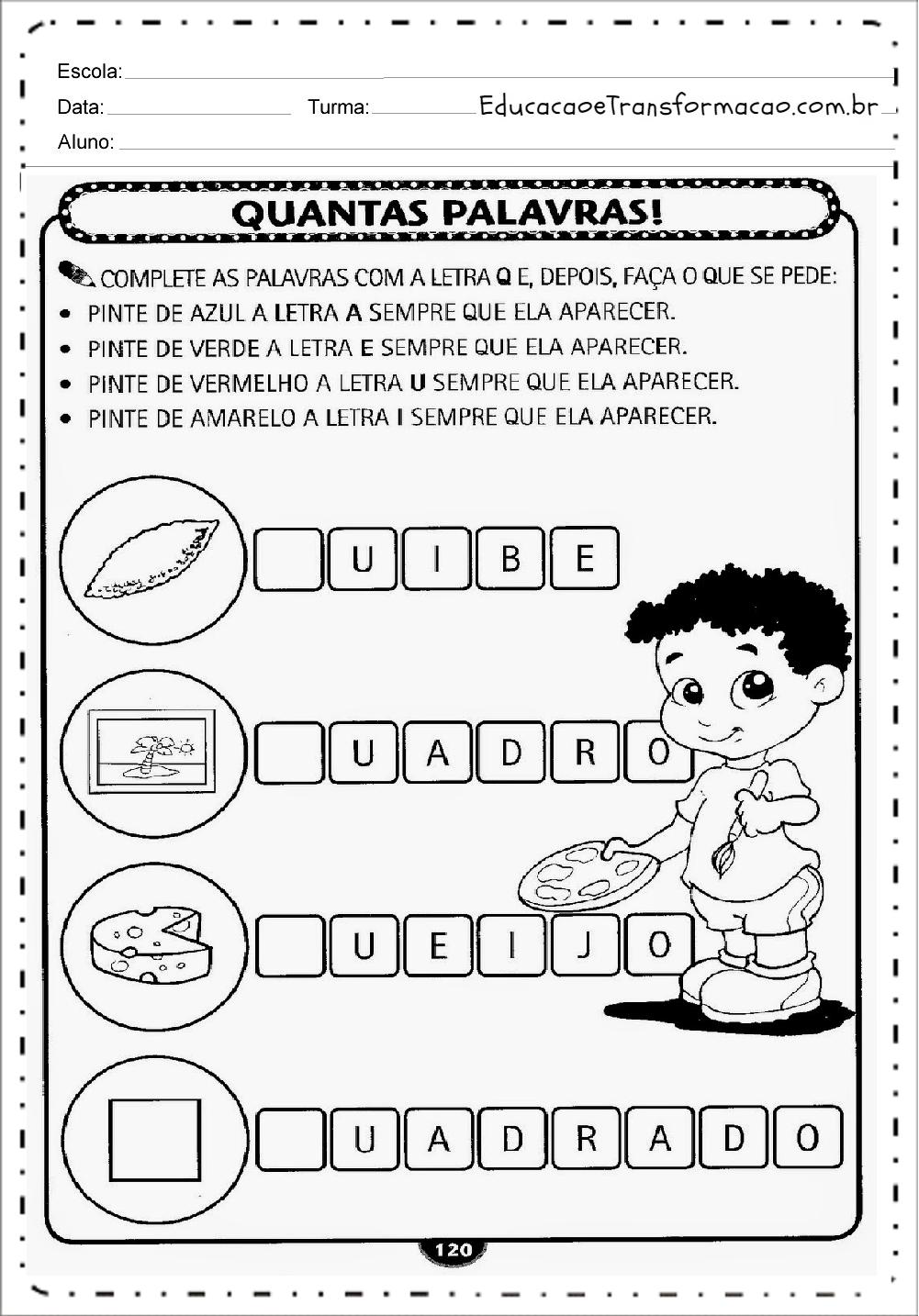 Conhecido Atividades para Educação Infantil para imprimir - Atividades  IY55