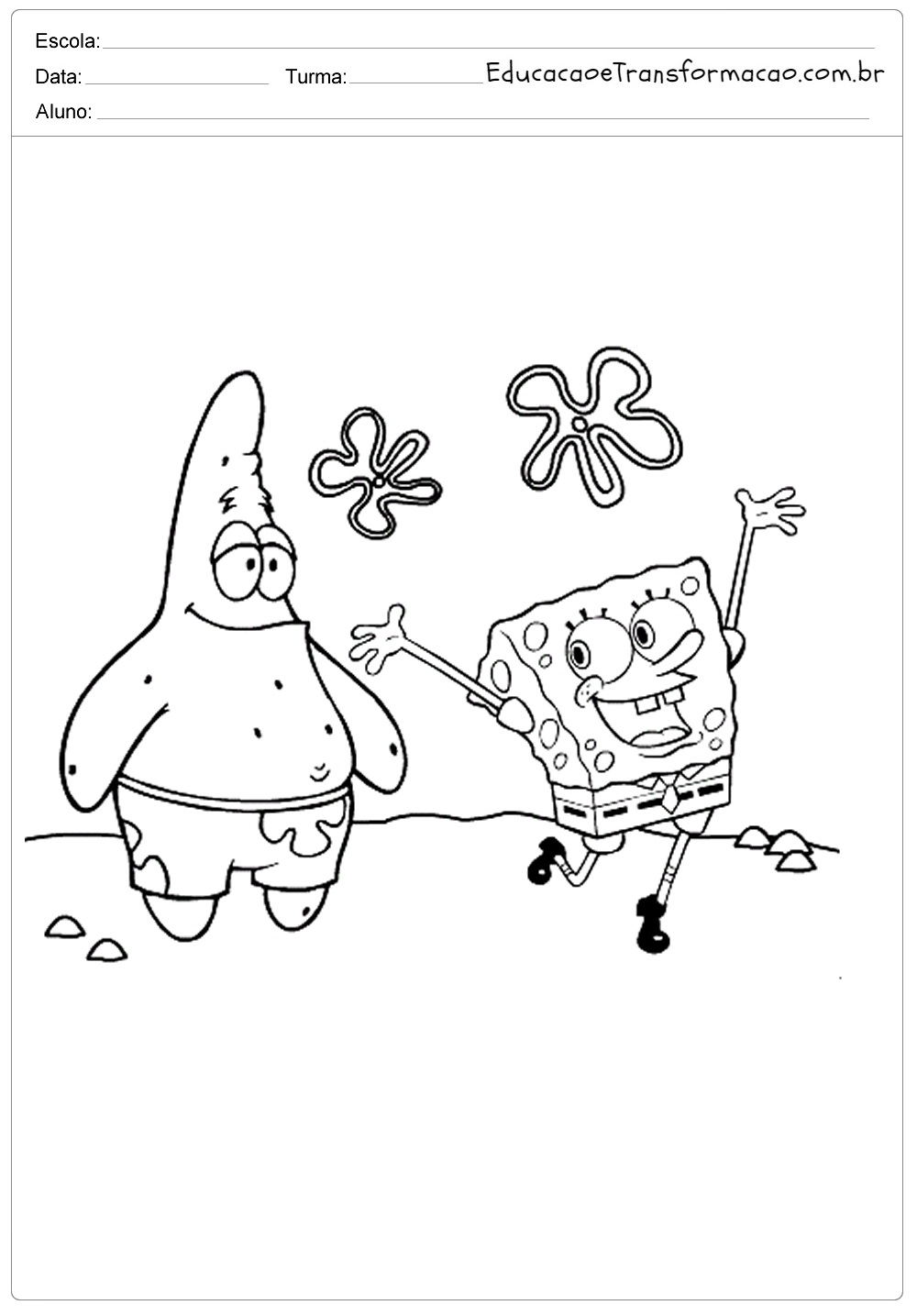 Patrick Desenhos Para Colorir Bob Esponja Educacao E