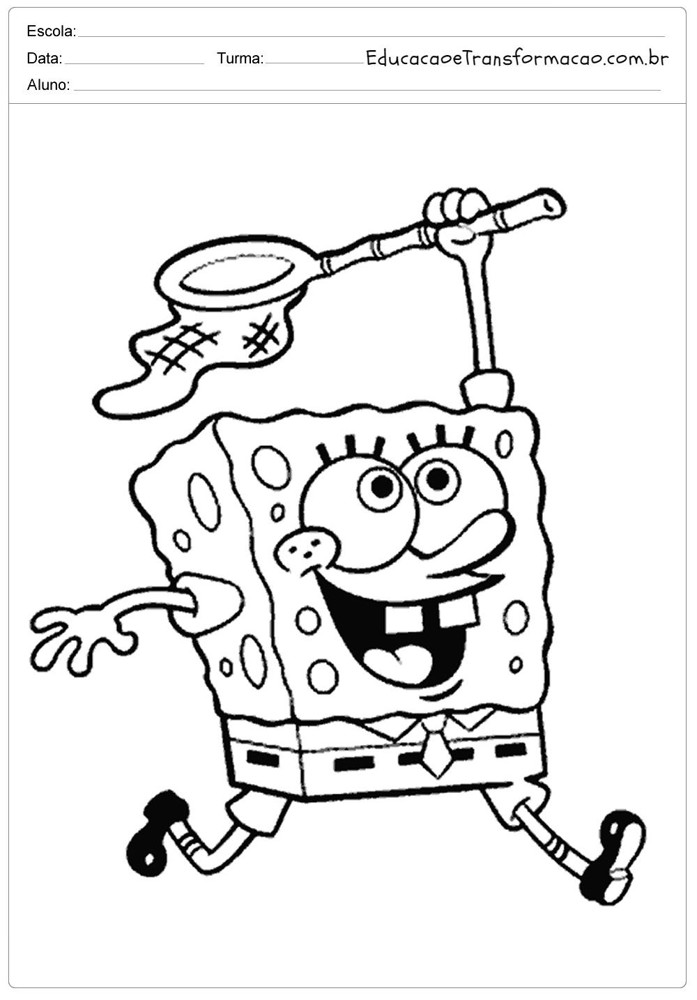 Desenhos Para Colorir Bob Esponja Calca Quadrada Imprimir E