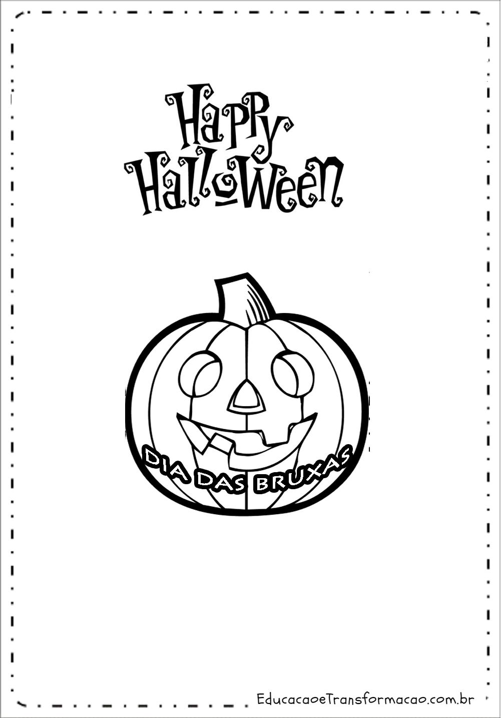 Mensagens Dia das Bruxas – Cartões para imprimir.