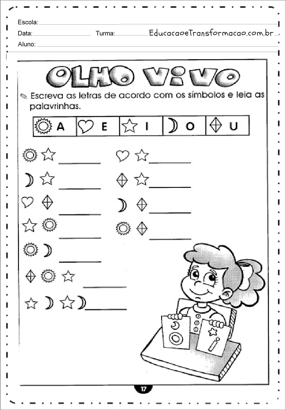 Escreva as Letras – Atividades de Alfabetização.