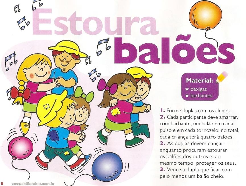 Estoura Balões – Gincanas Escolar dia das crianças.