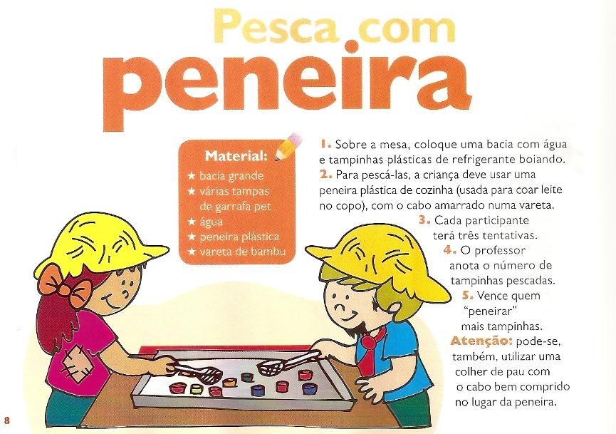 Pesca com Peneira – Gincanas Escolar dia das crianças.