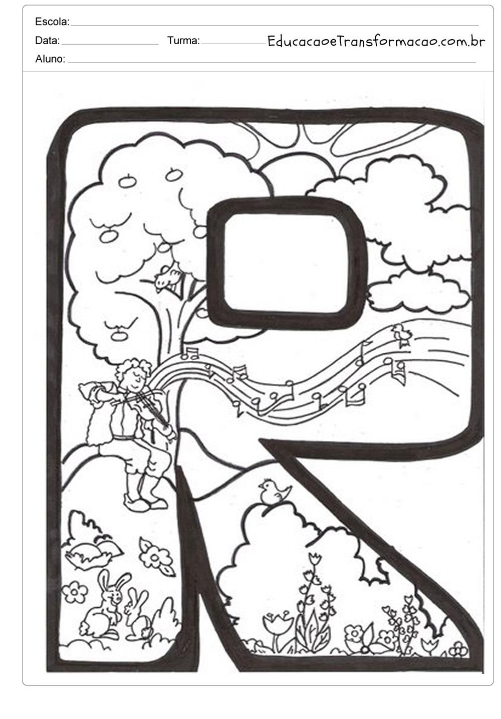 Moldes de letras para mural e painéis de primavera - Letras Ilustradas.