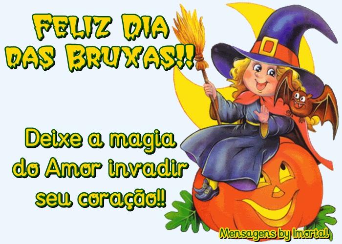 Mensagens Dia das Bruxas - Halloween - Frases Curtas e Cartões.