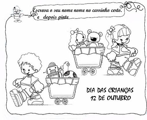Mensagens Dia das Crianças: Cartões e Frases para imprimir e colorir - Compartilhe nas redes sociais.