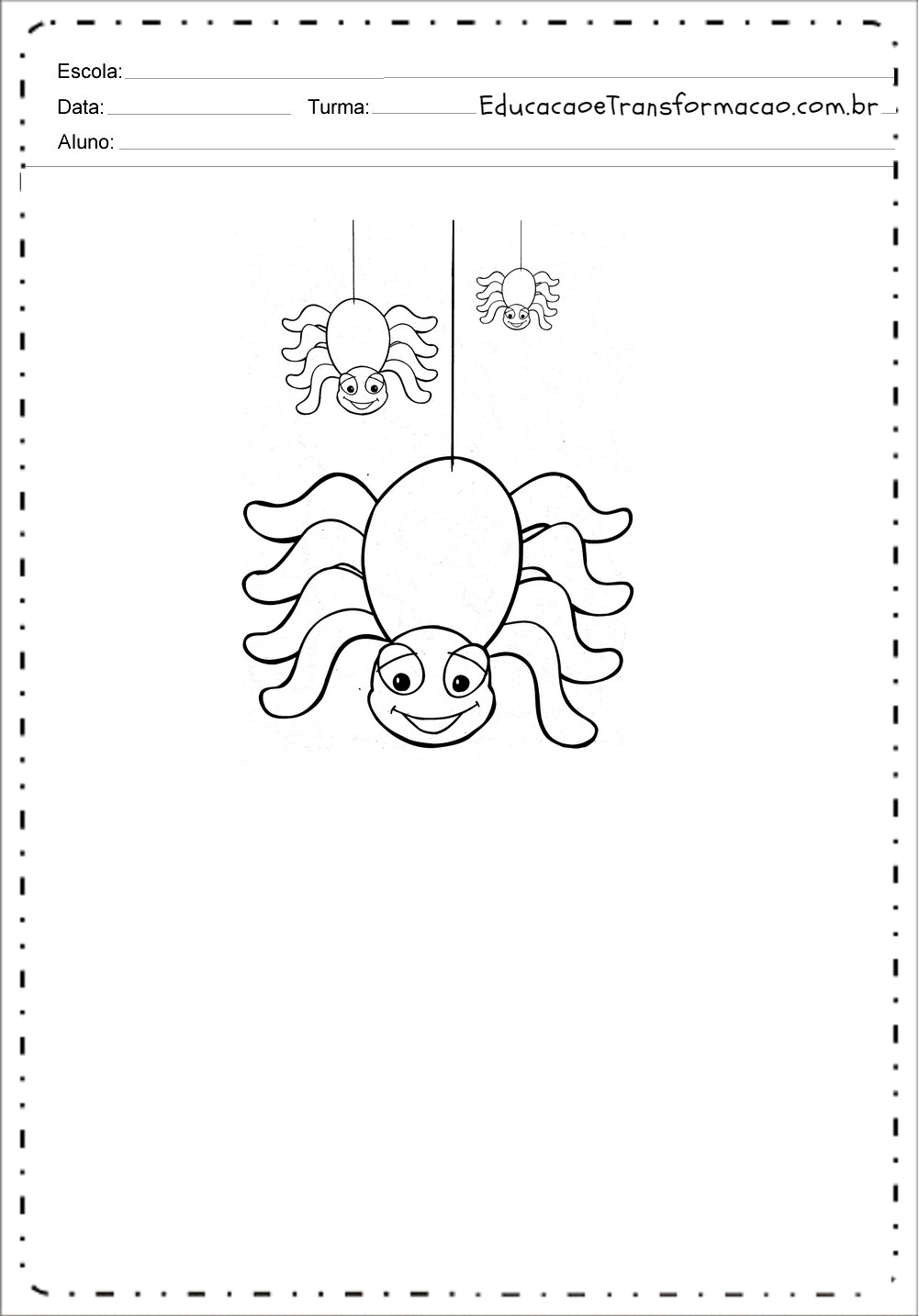Moldes de Aranhas – Decoração para Dia das Bruxas.